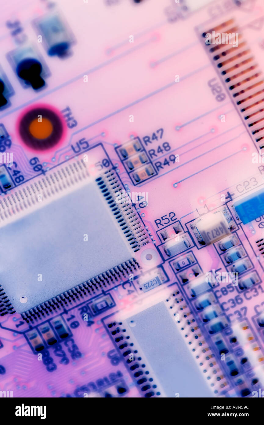 Pink Circuit Board Stock Photos Images Royalty Free Image Of Background From Red Close Up Closeup A