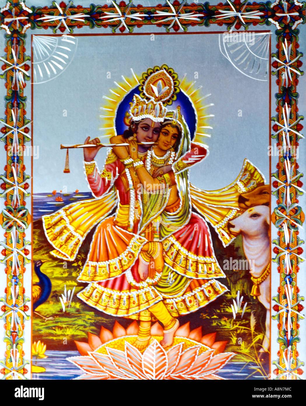 Krishna And Radha - Stock Image