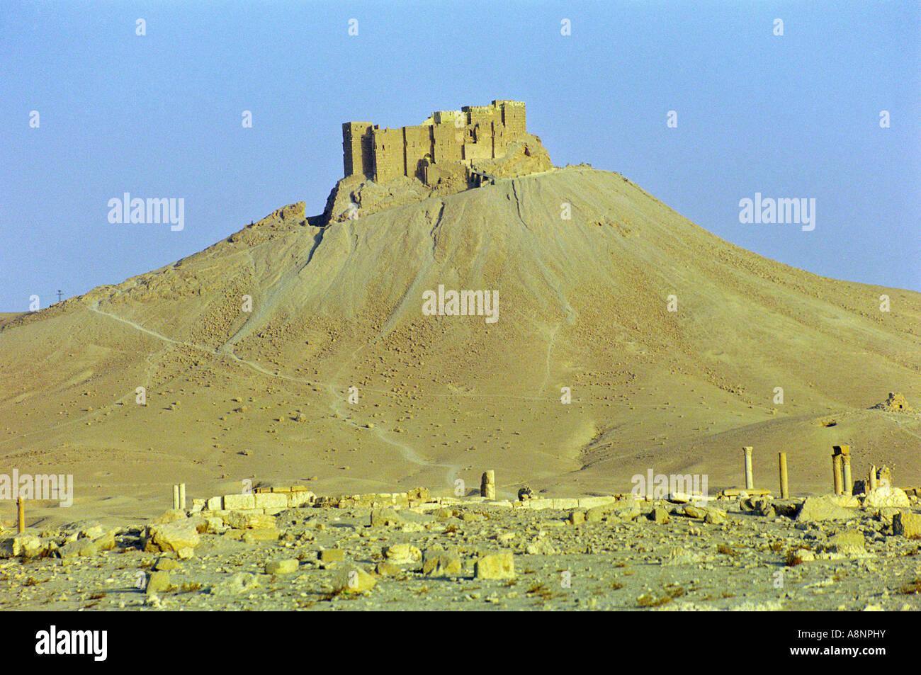 Qala'at Ibn Maan - Palmyra, SYRIA - Stock Image