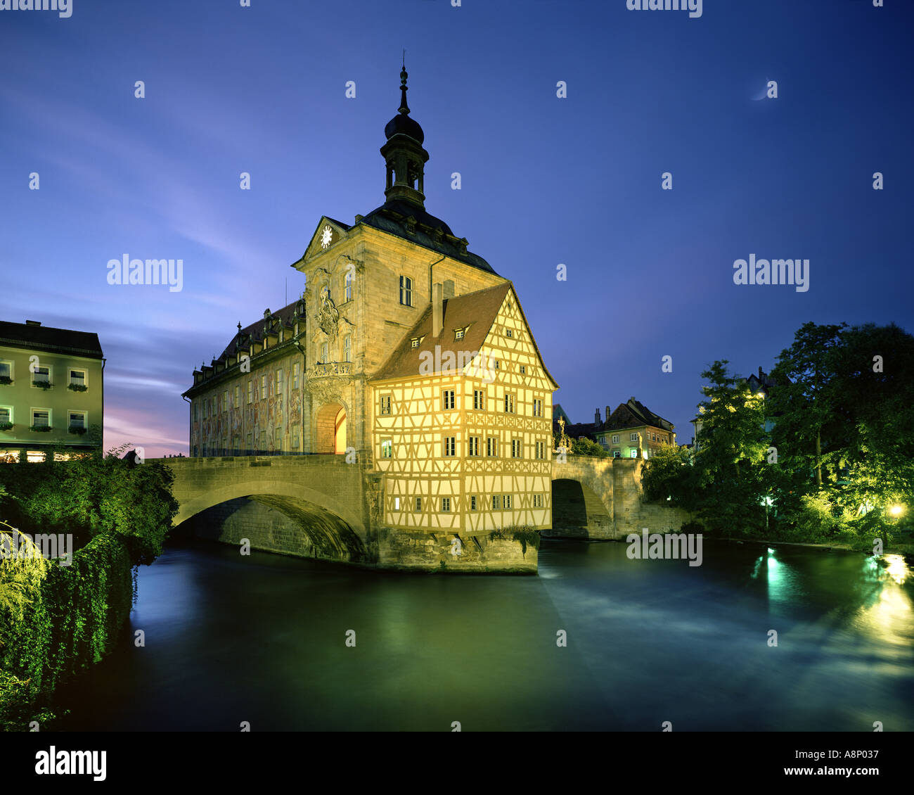 DE - BAVARIA: 'Altes Rathaus' in Bamberg - Stock Image