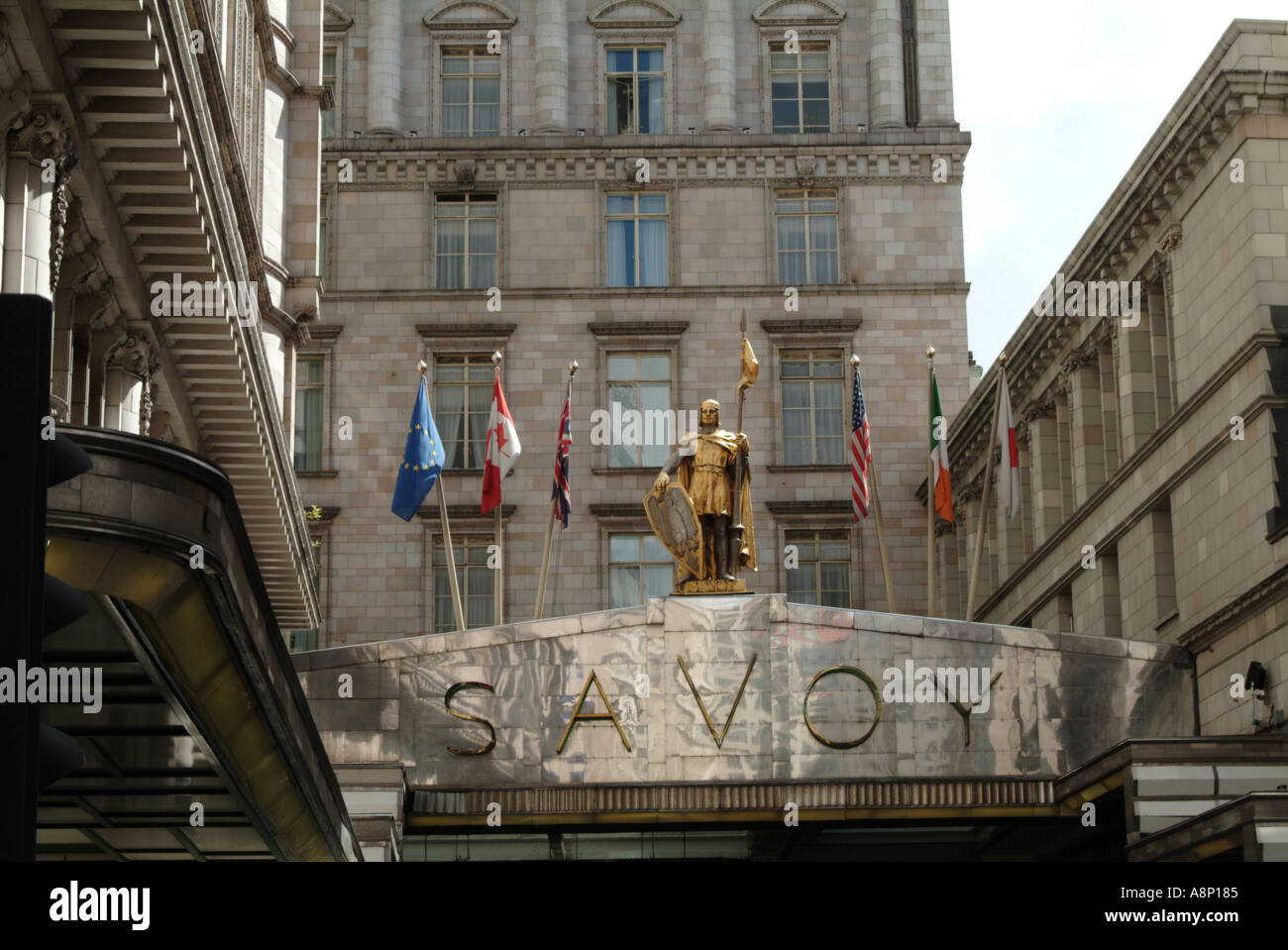 The Savoy Hotel on The Strand - Stock Image