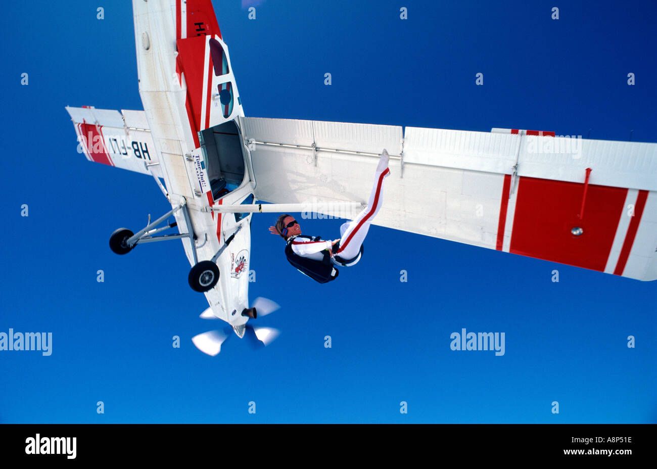 Freestyle Skydiving - Stock Image
