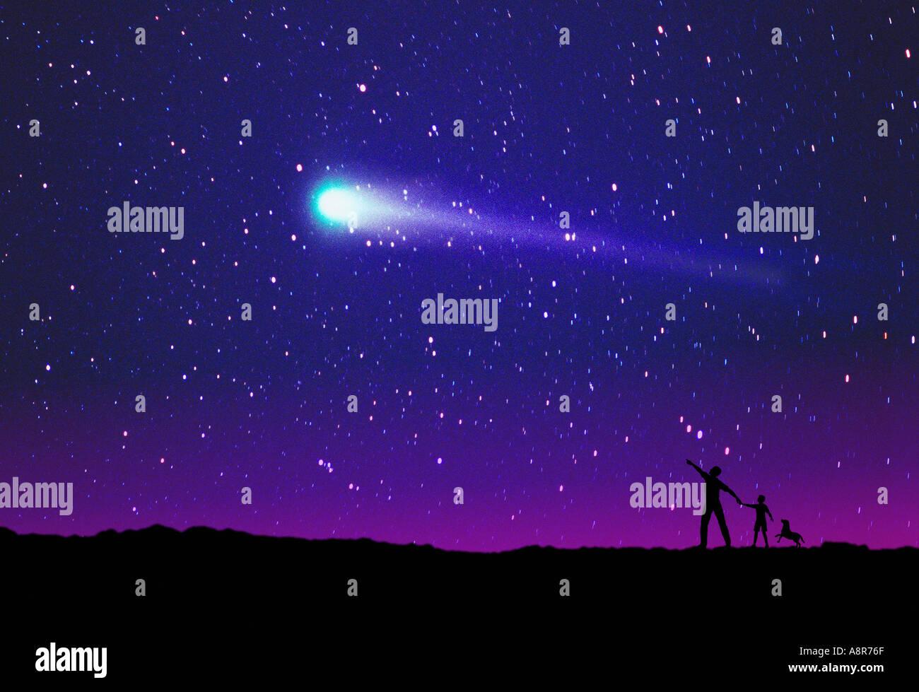 Comet Watchers - Stock Image