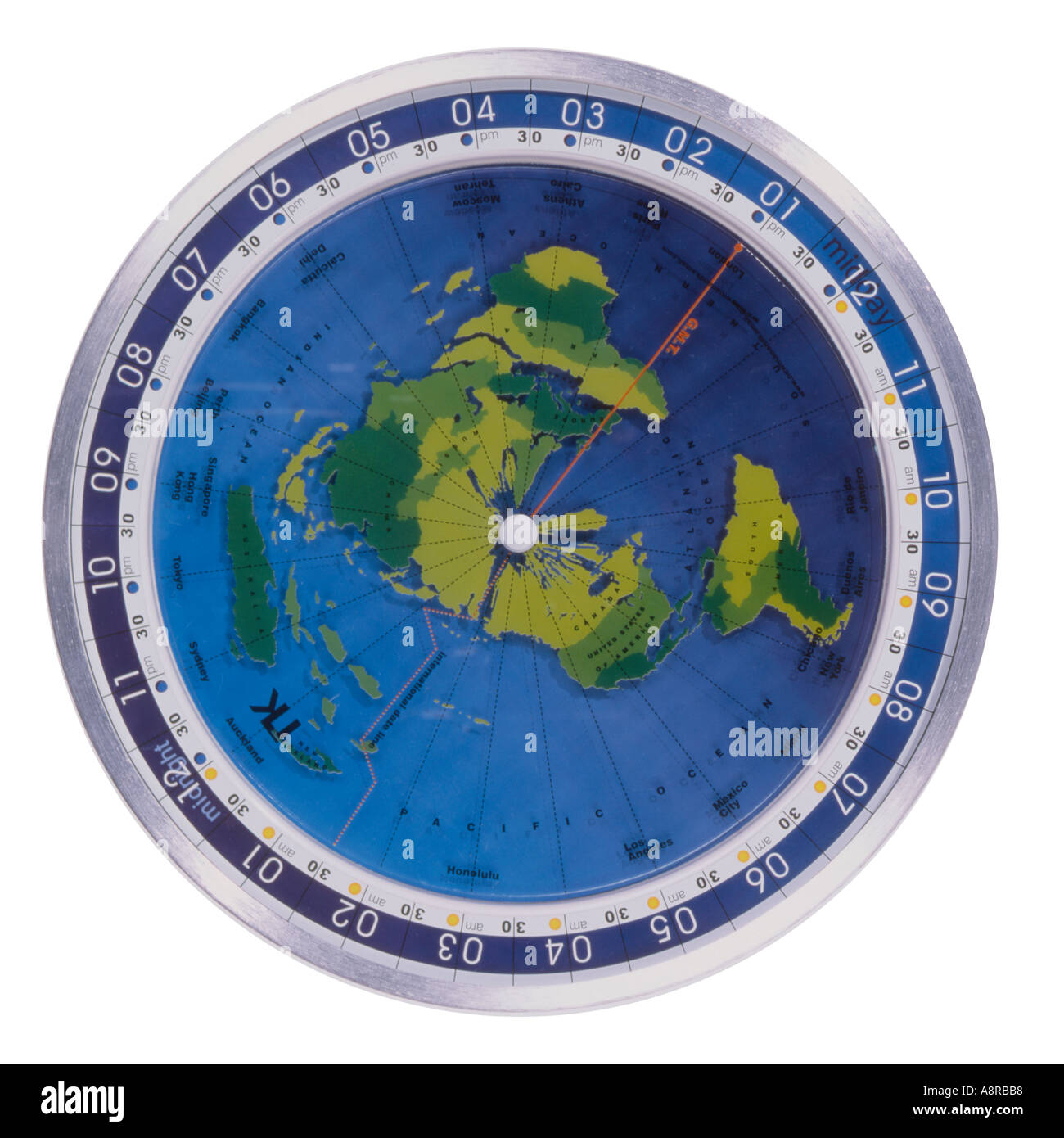 World clock globe map from above stock photo 2259895 alamy world clock globe map from above gumiabroncs Images