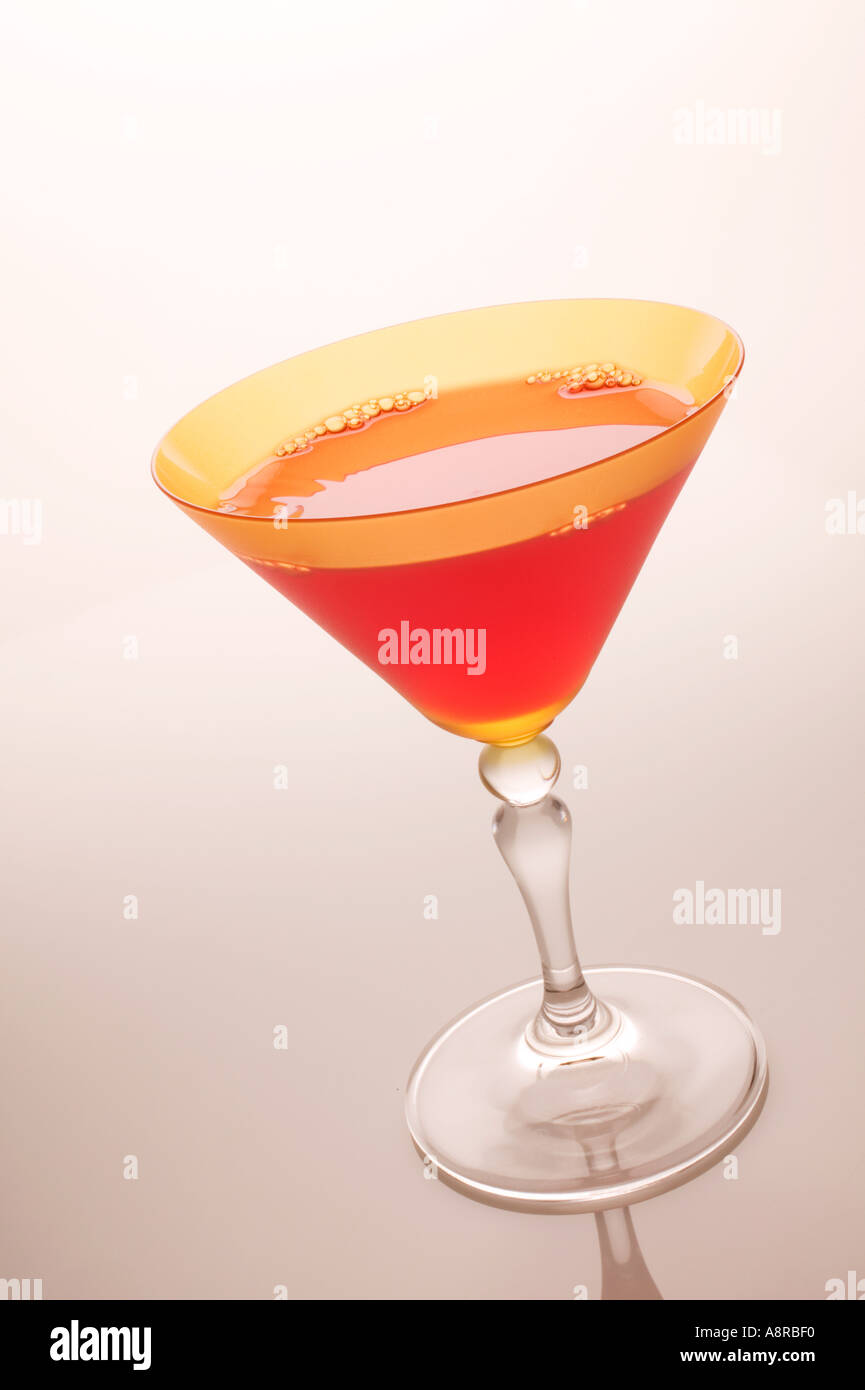 Cosmopolitan in glass - Stock Image