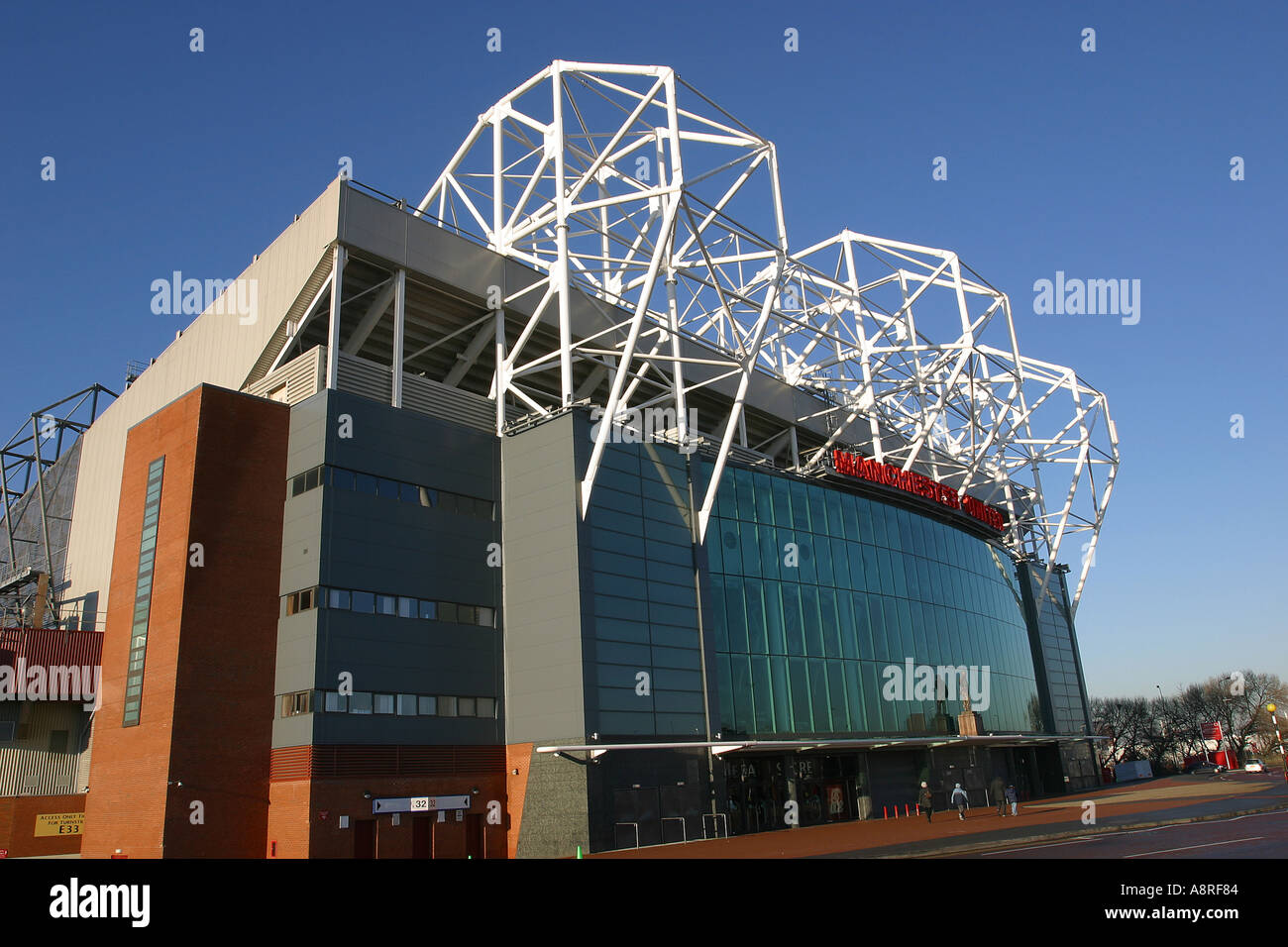 Old Trafford the home of Manchester United Football Club Manchester UK - Stock Image