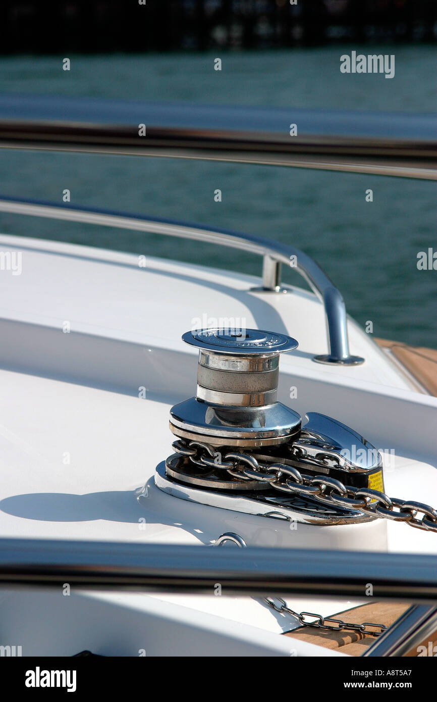 Detail of Yacht - Stock Image
