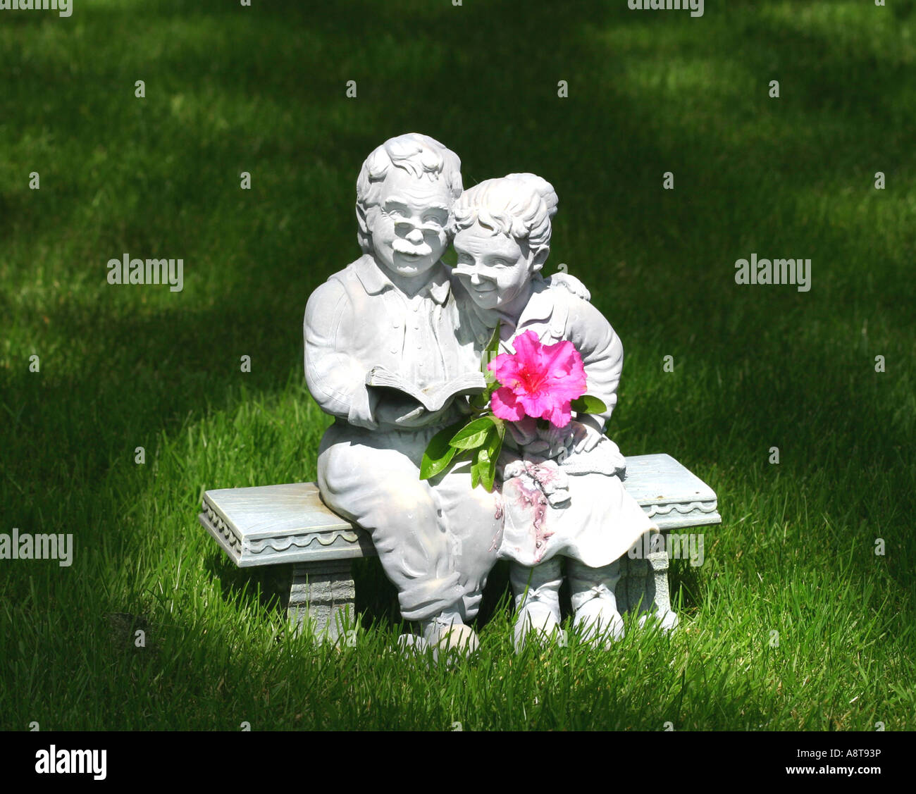 Golden Love & Quiet Moments, reading and sharing for two -- 2. - Stock Image