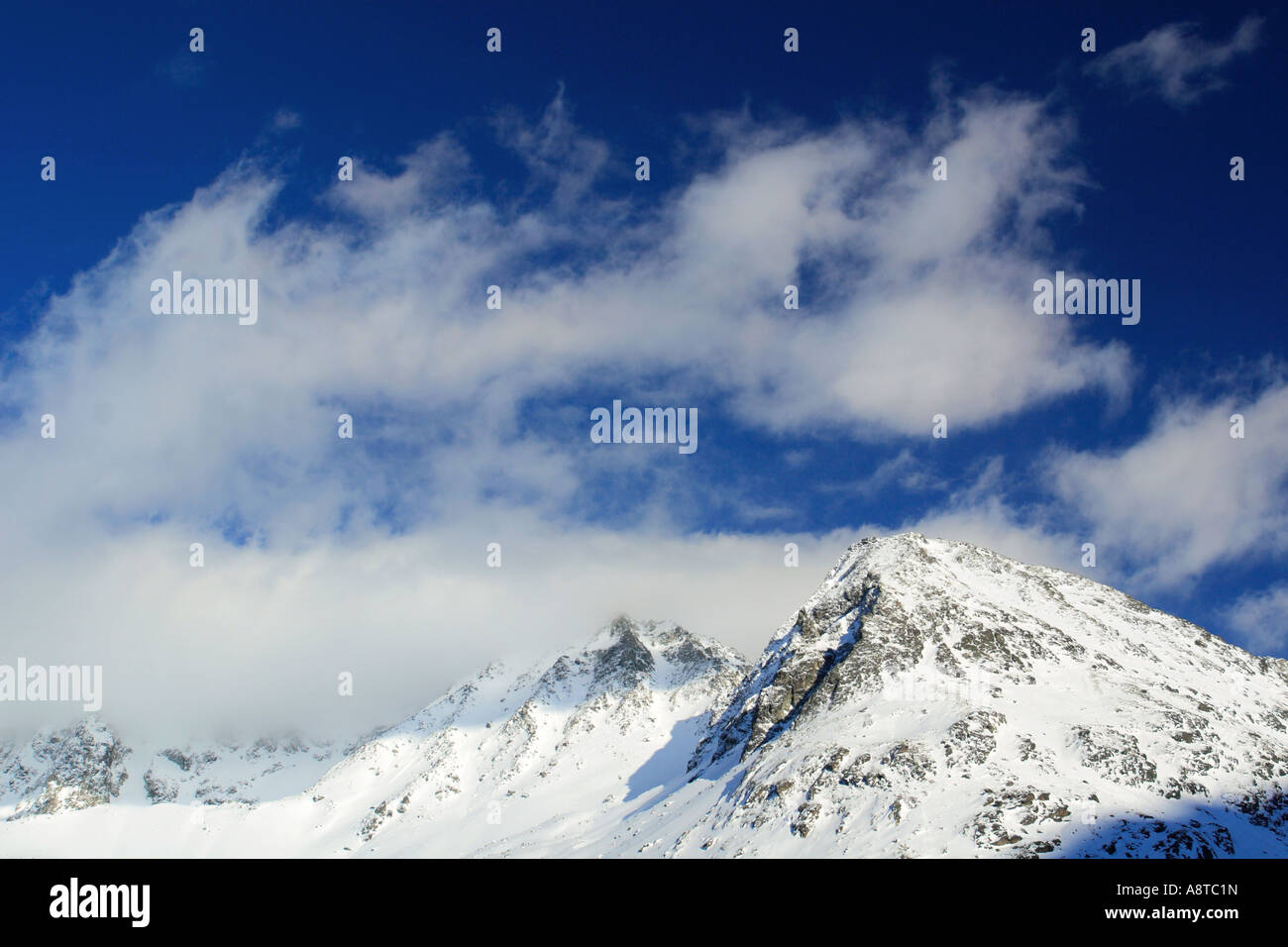 Valais Alps, view from Arolla valley, Switzerland Stock Photo