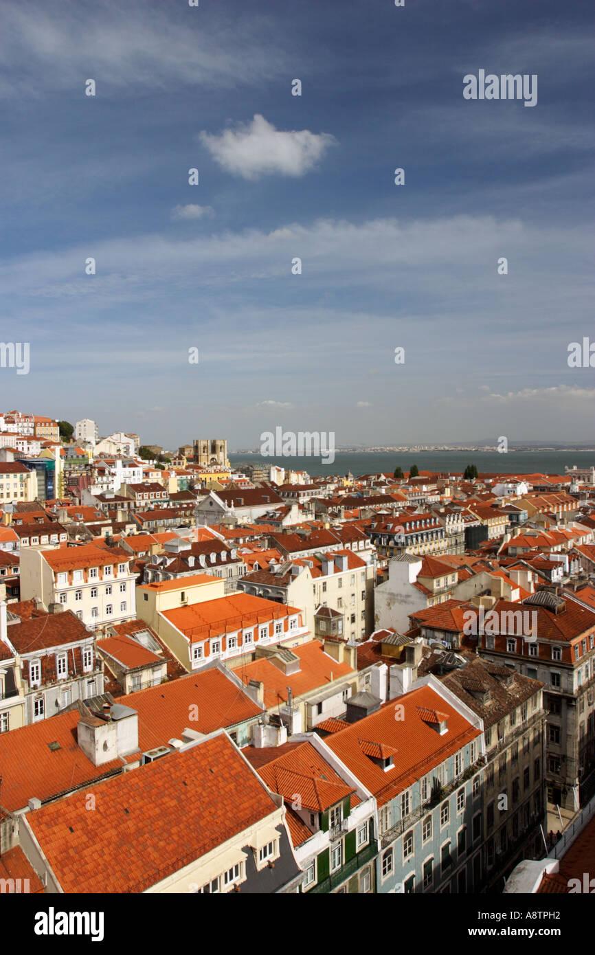 Lisbon Panorama - Stock Image