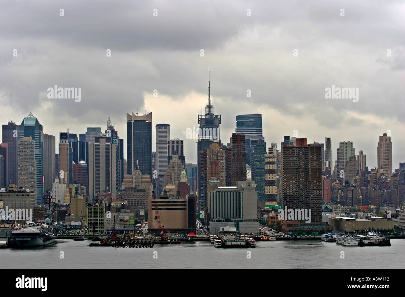 New York City right before a big storm - Stock Image
