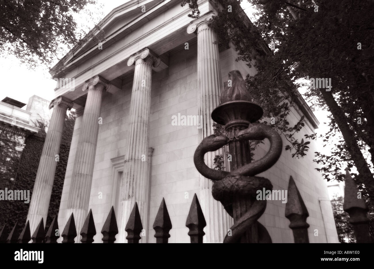 Yale Book and Snake secret society established in1863 Stock Photo