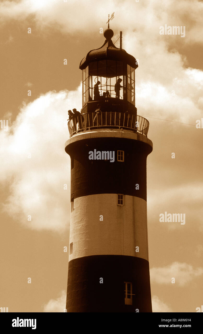 Lighthouse Visitors - Stock Image