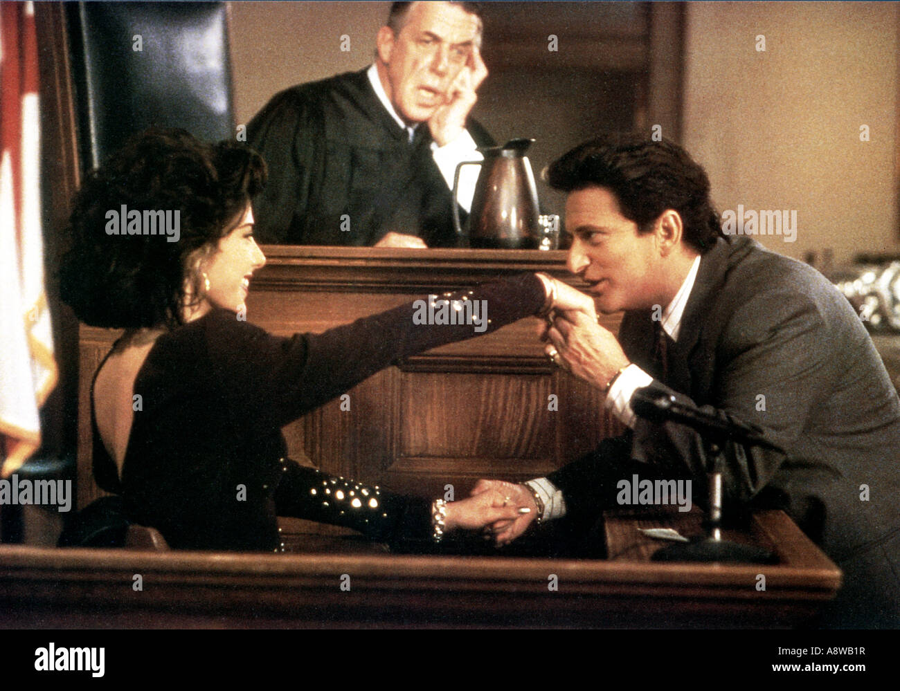 MY COUSIN VINNY - 1992 TCF film with from left Marisa Tomei, Fred Gwynne and Joe Pesci - Stock Image