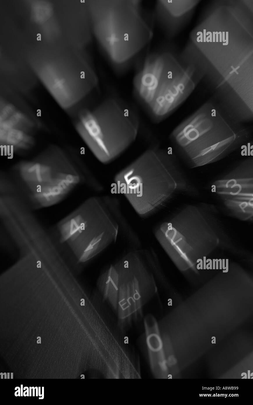 data input computer internet keyboard qwerty numerical frustration escape esc lock up shutdown crash - Stock Image