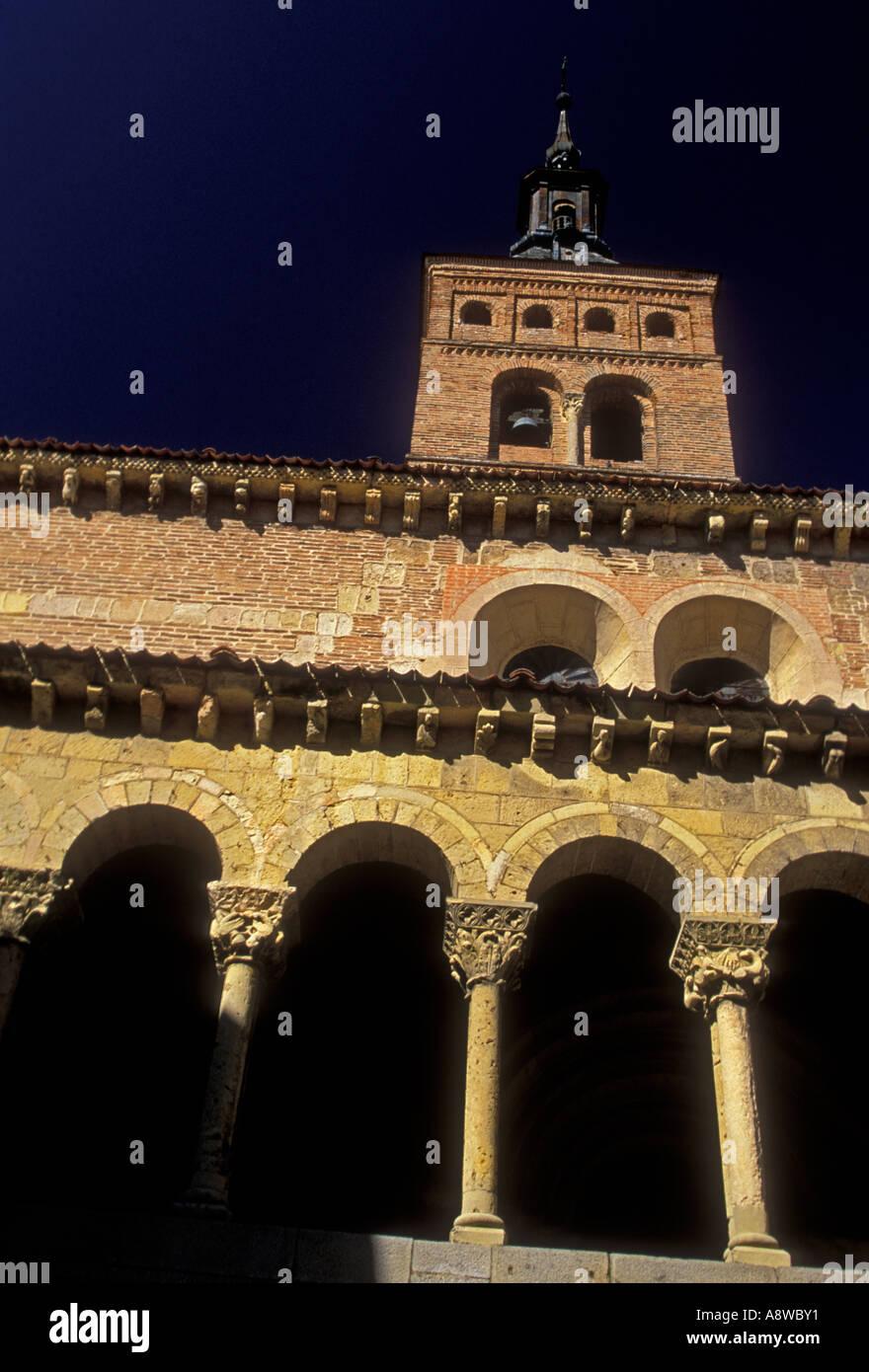 Iglesia de San Martin, San Martin Church, Plaza de Medina del Campo, Segovia, Segovia Province, Castile and Leon, Stock Photo