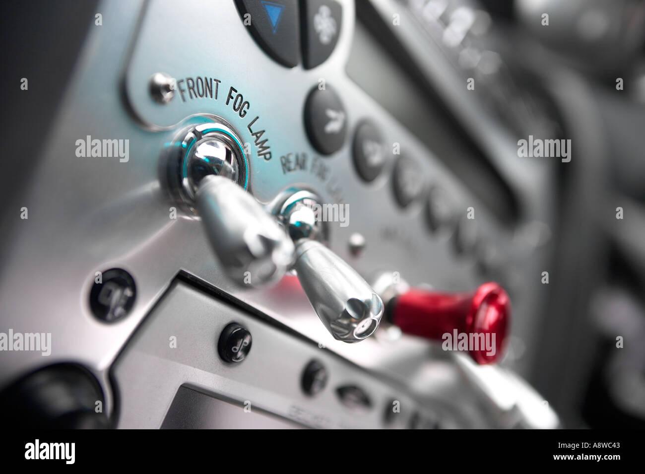 Pagani Zonda dashboard switches Stock Photo