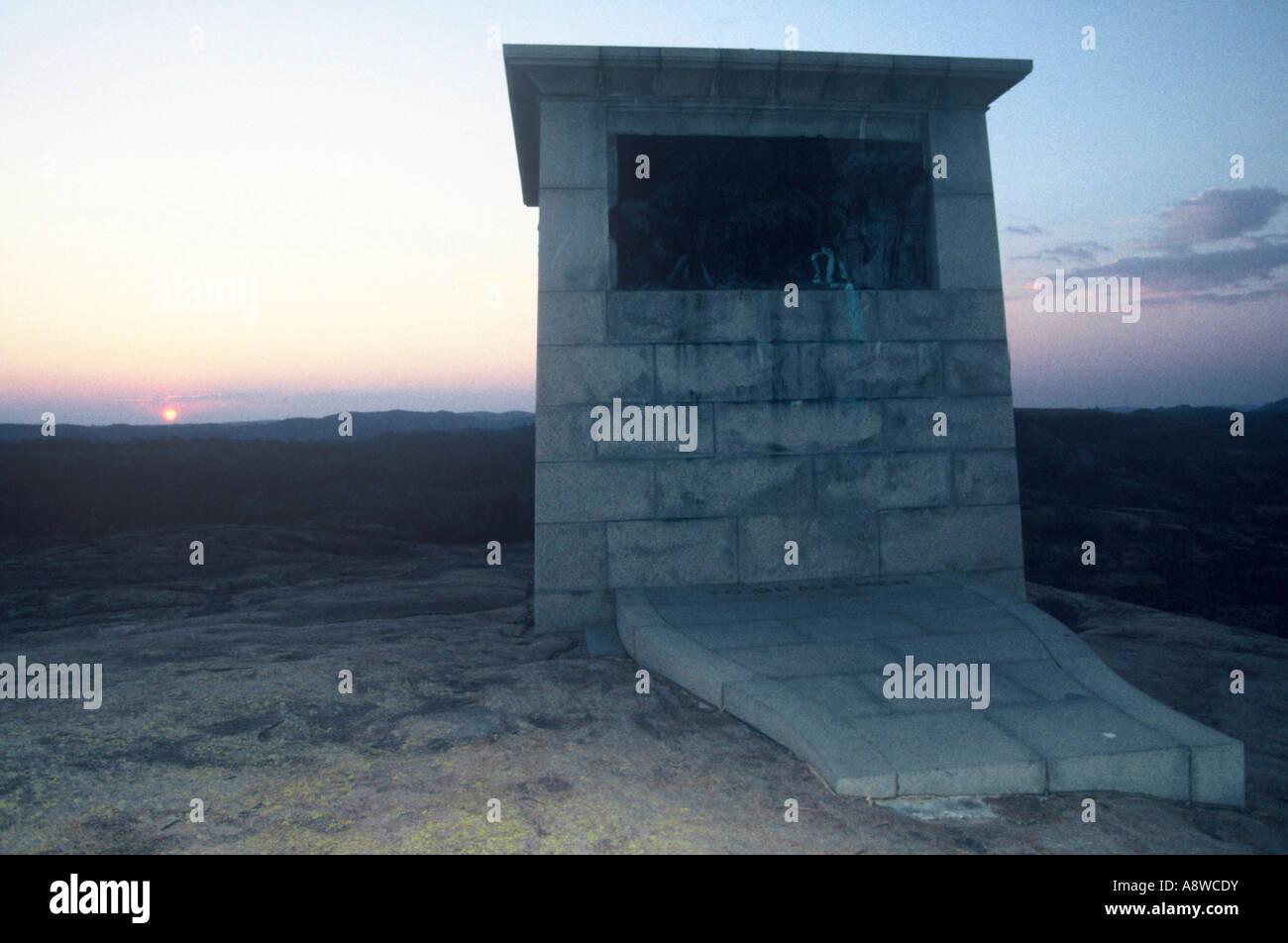 Memorial at dawn - Stock Image