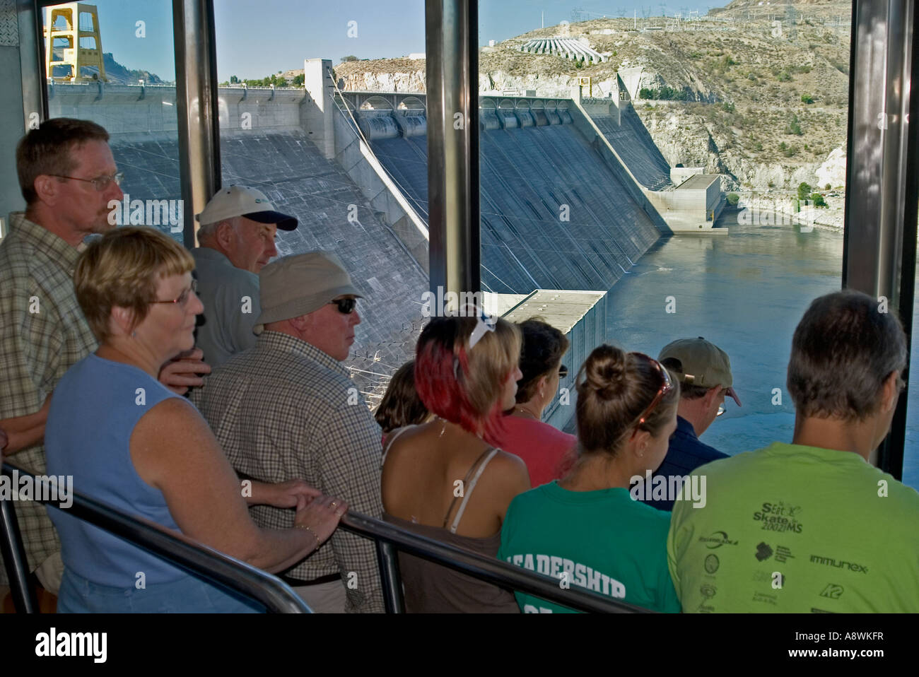 Usa washington grand coulee grand coulee dam face 3rd powerhouse usa washington grand coulee grand coulee dam face 3rd powerhouse tour 45 degree incline elevator 2006 publicscrutiny