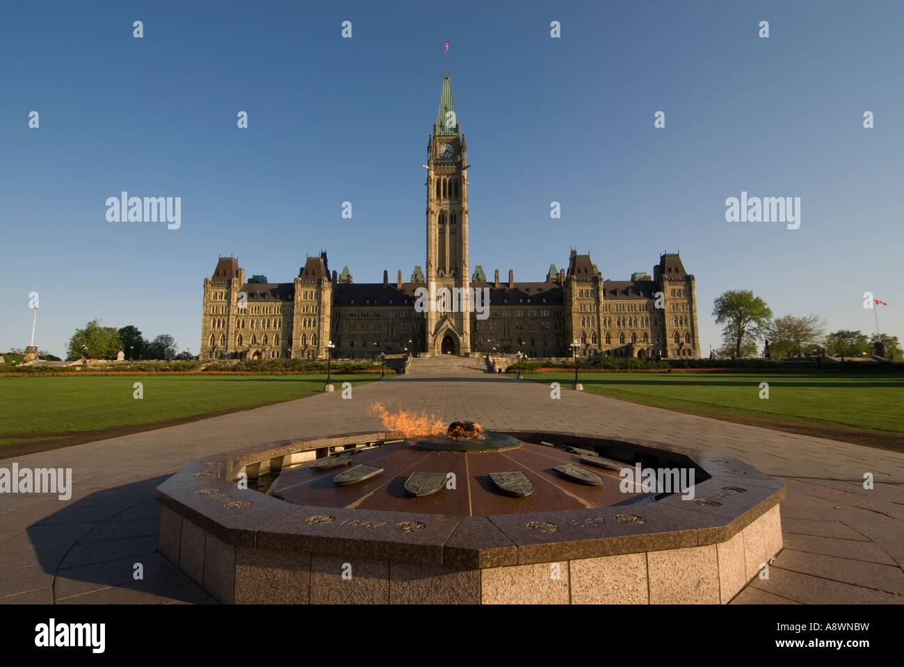 Centennial Flame on Parliament Hill Ottawa Ontario Canada Stock ...