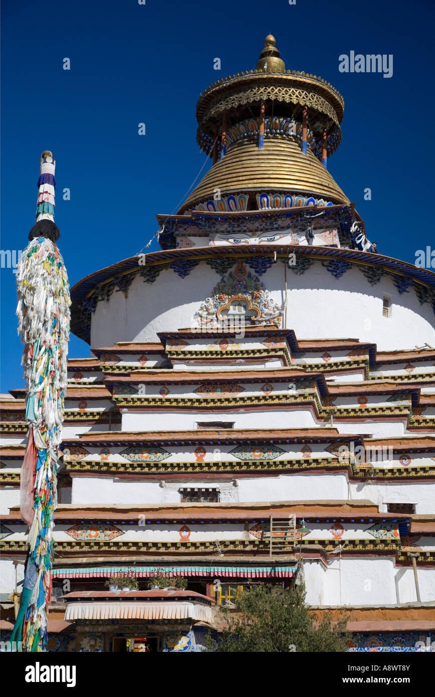 Kumbum Stupa - Gyangtse Tibet 11 - Stock Image