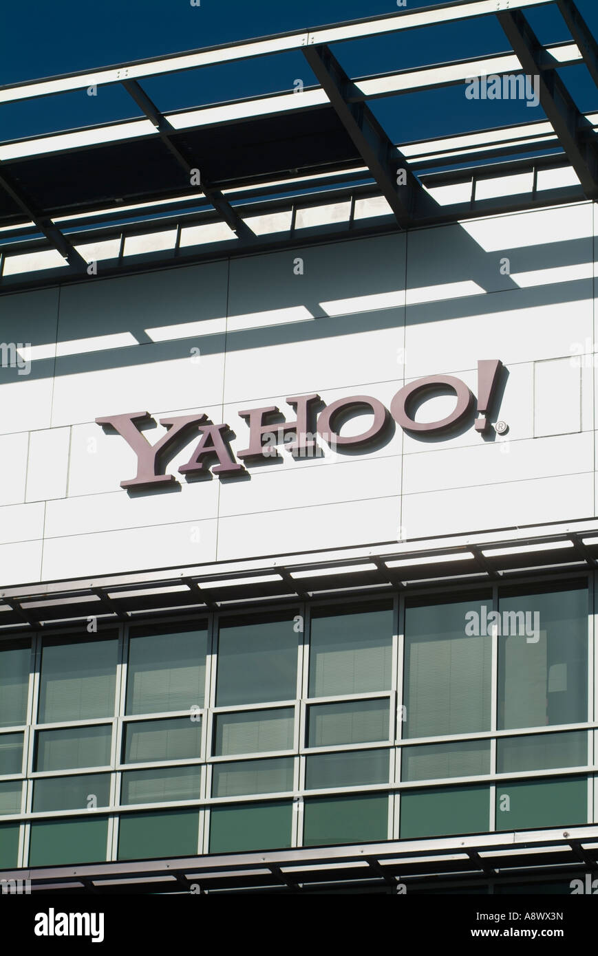 Headquarters for building for Yahoo Inc in Sunnyvale CA Photo by Chuck Nacke - Stock Image
