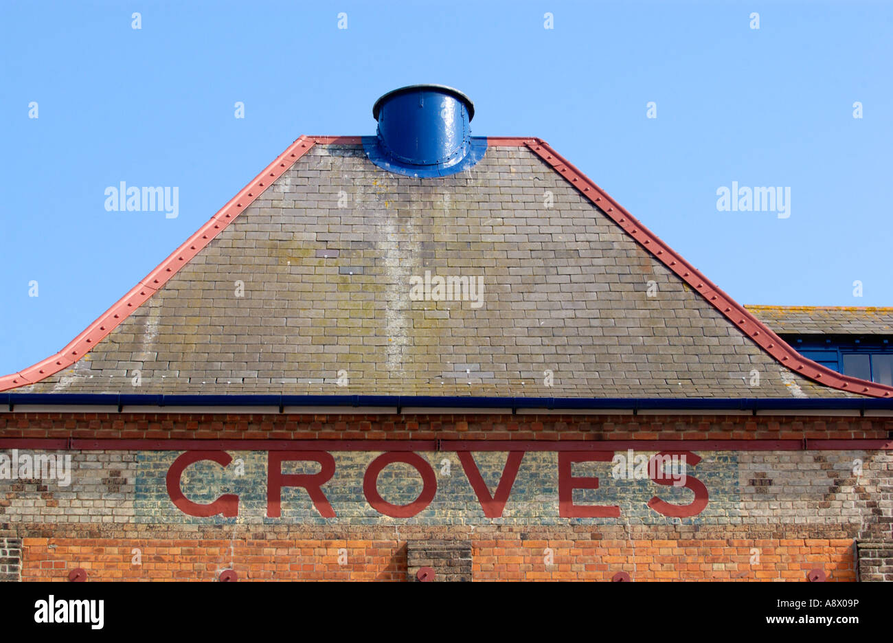 Groves Malthouse in Weymouth UK redeveloped into luxury apartments and maisonettes part of the Brewers Quay Conservation Stock Photo
