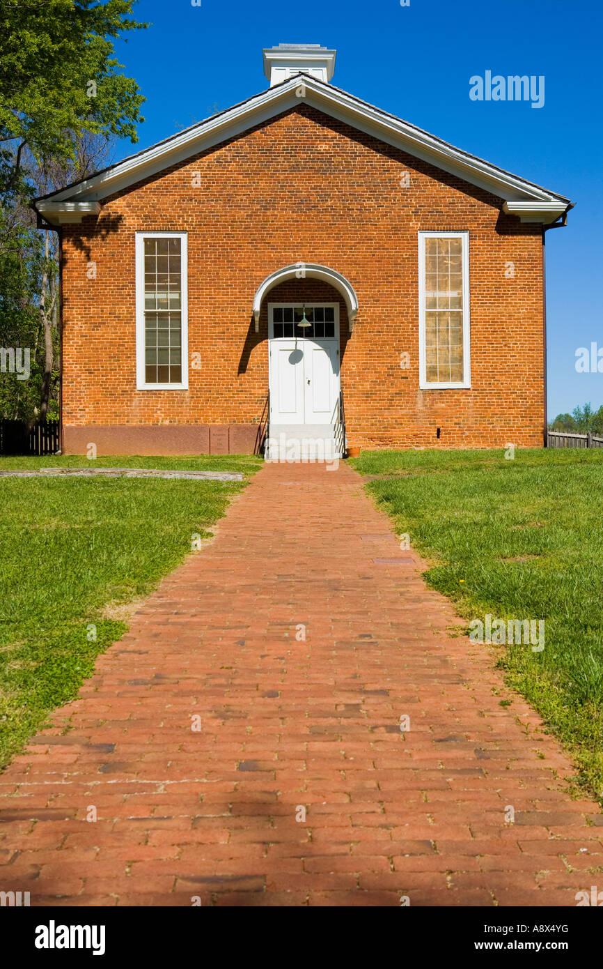 Saint Philip's Church African Moravian Old Salem North Carolina - Stock Image