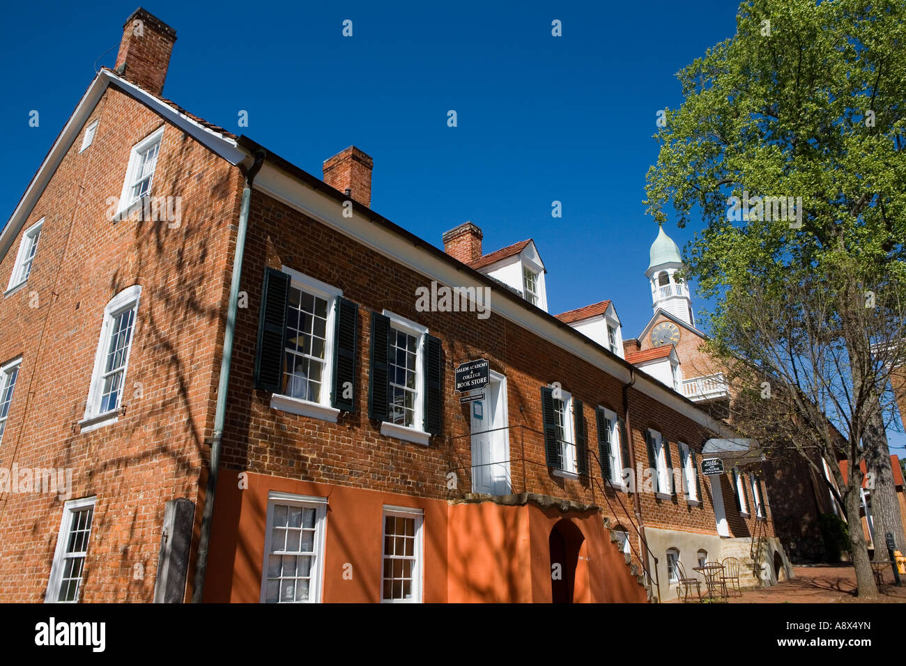 Inspector's House and Home Moravian Church Old Salem North Carolina - Stock Image