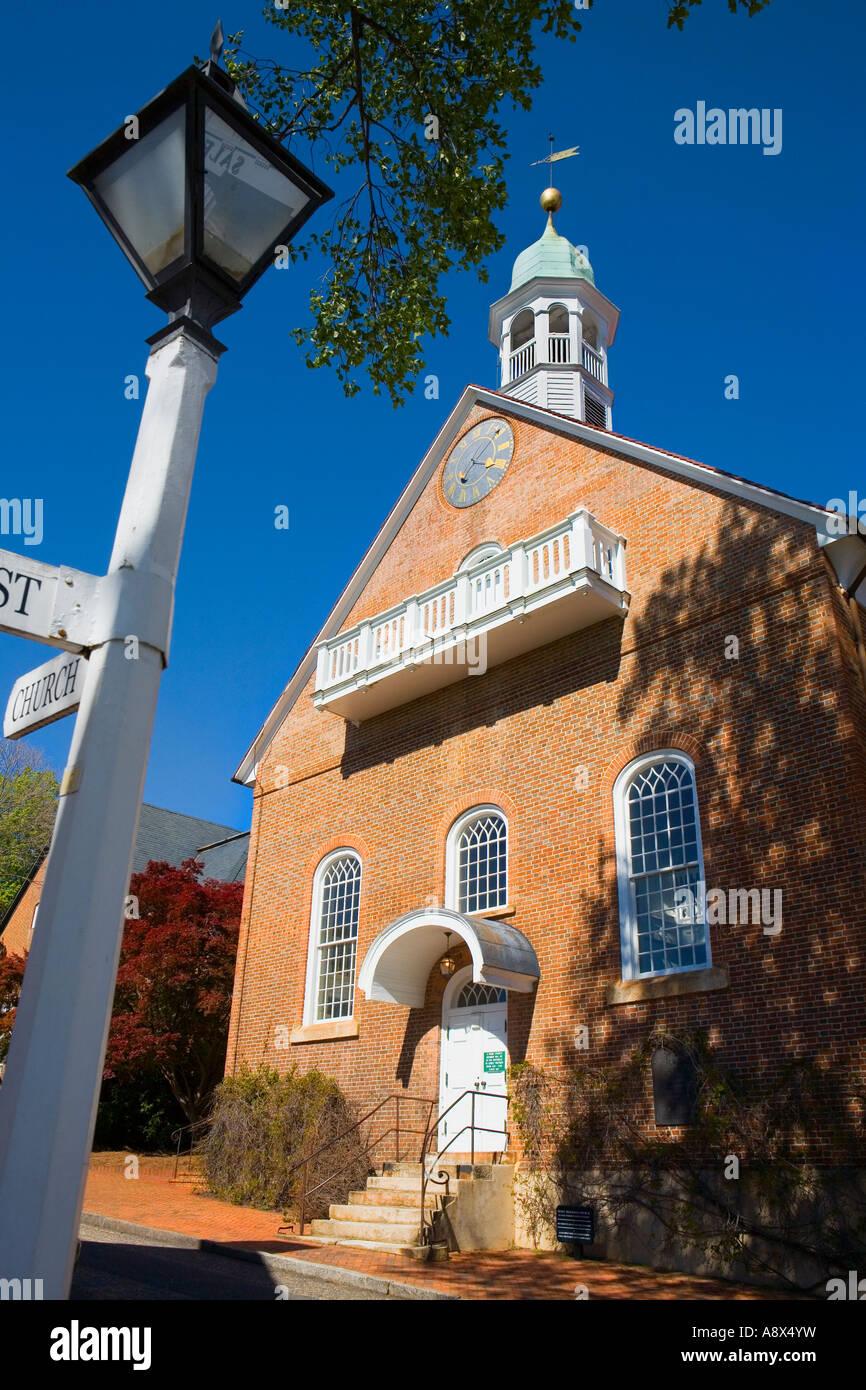 Home Moravian Church Old Salem North Carolina - Stock Image
