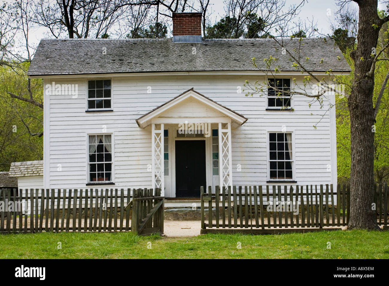 Duke Homestead State Historic Site Durham North Carolina - Stock Image