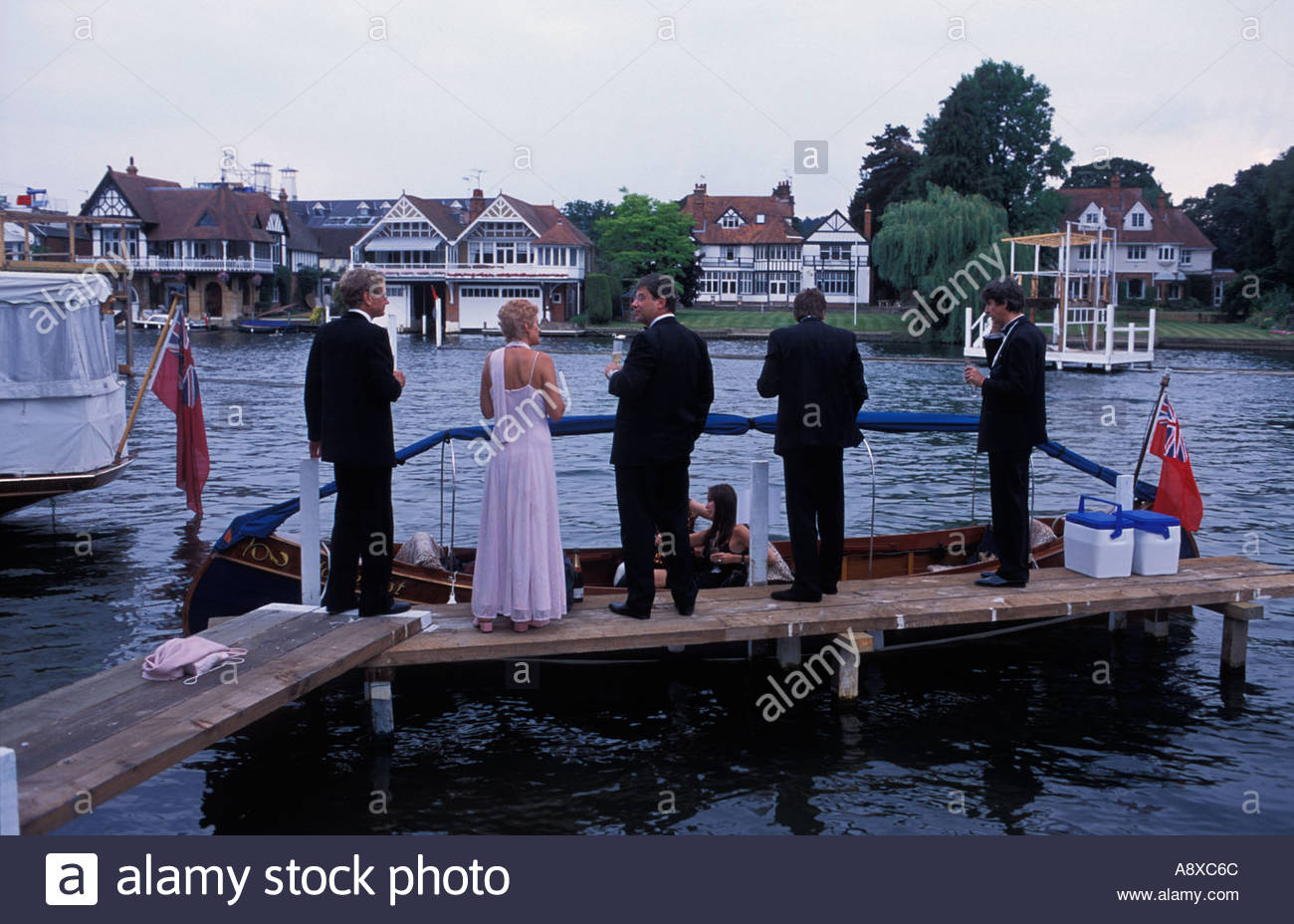 Guests at the Henley Music Festival, UK - Stock Image