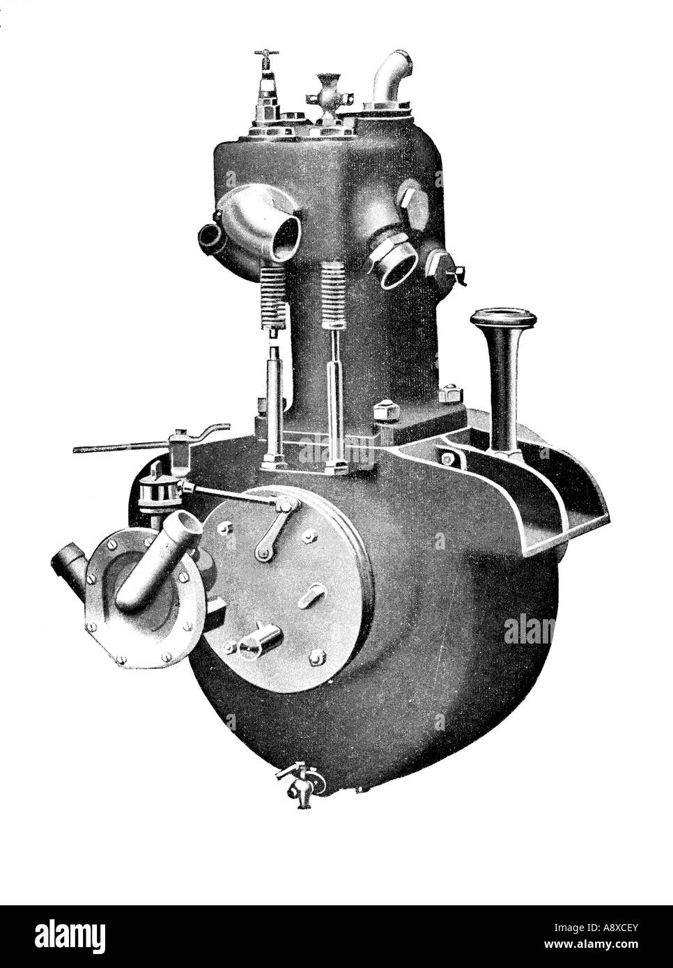 Car Engine Diagram Stock Photos Images Steam Darracq Single Cylinder Petrol Image