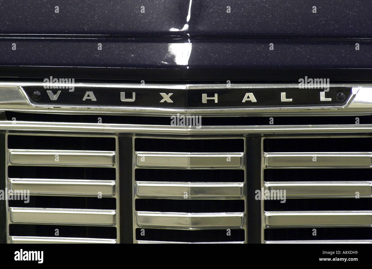 Old Vauxhall Motors badge  Luton UK - Stock Image