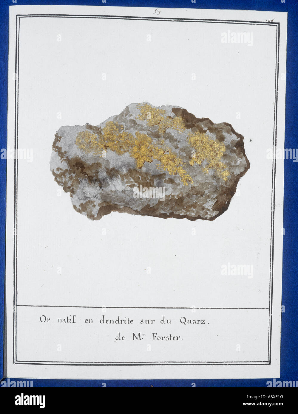 Plate 51 from Mineralogie by Swebach Desfontaines - Stock Image