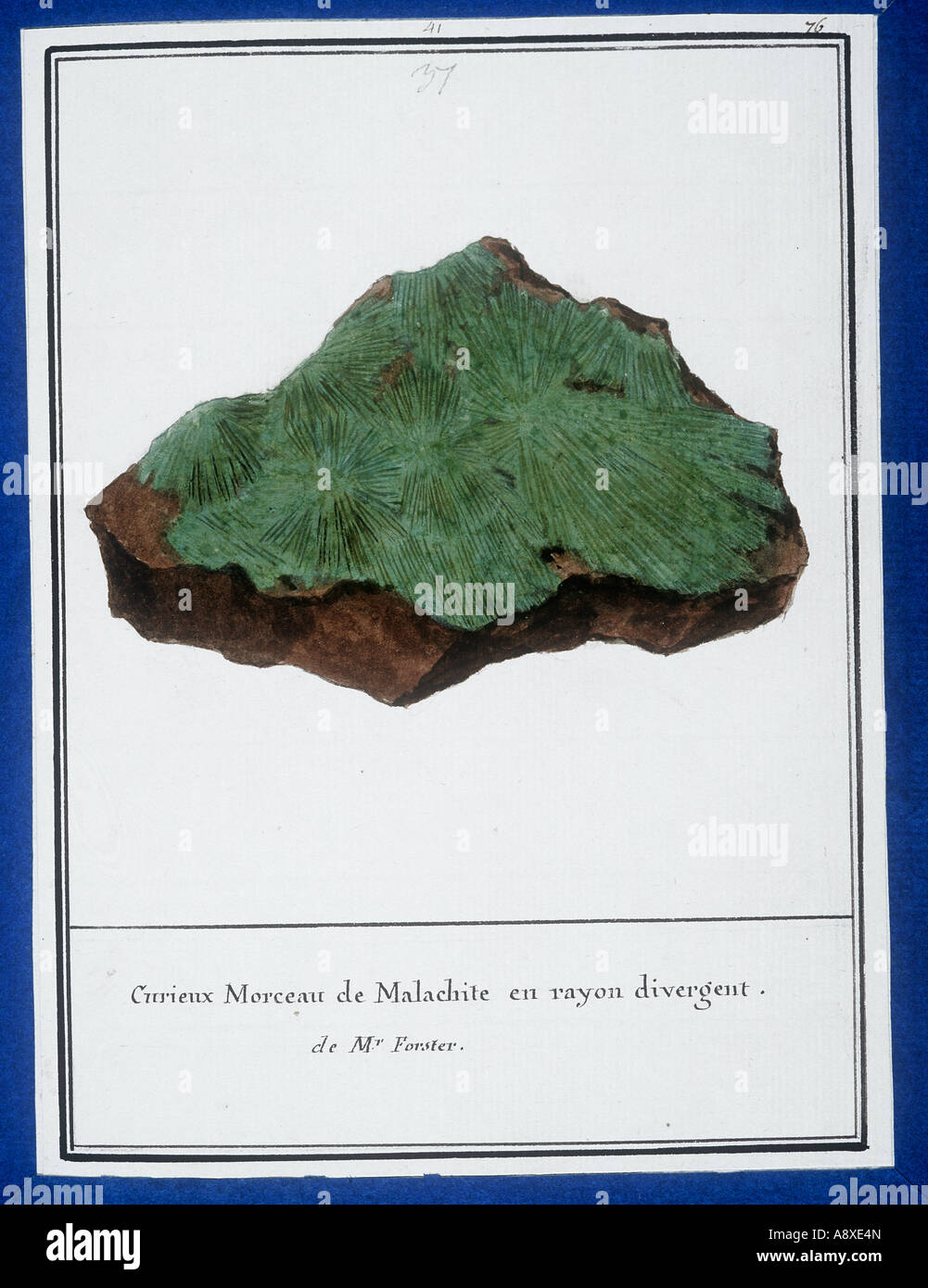 Plate 37 from Mineralogie by Swebach Desfontaines - Stock Image