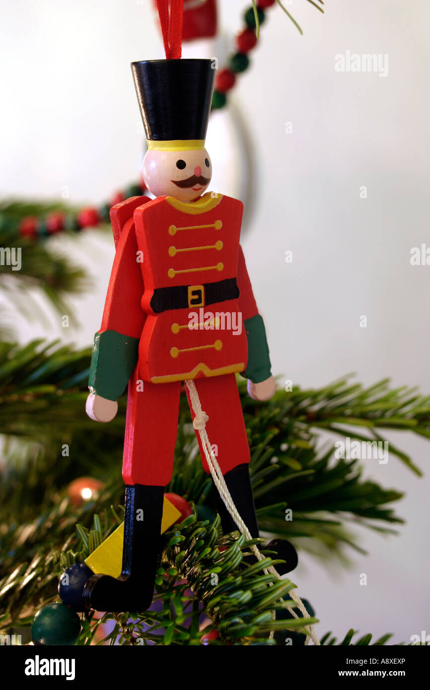 wooden soldier christmas tree decoration stock image - Christmas Decorations Wooden Soldiers