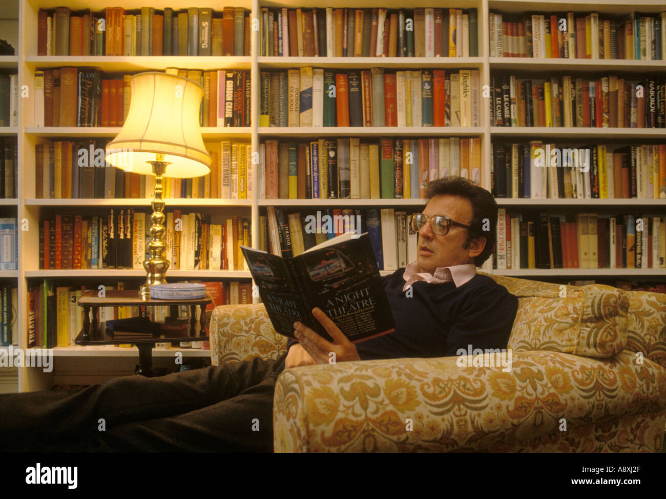 Ronald Harwood playwright author at home  1970s HOMER SYKES - Stock Image