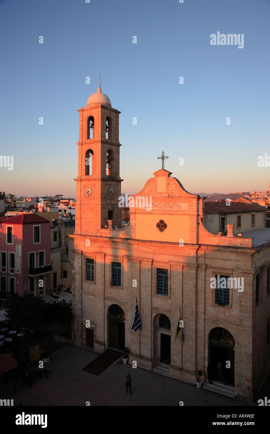 Greeece Western Crete The Cathedral Church of Chania Church of the Trimaryri Stock Photo