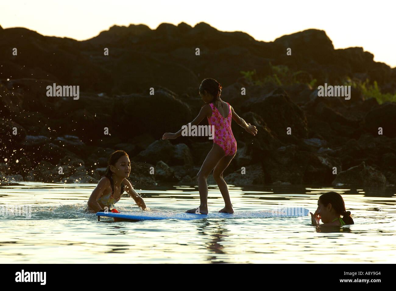 Hawaii Kona Beach Family Stock Photos & Hawaii Kona Beach Family ...