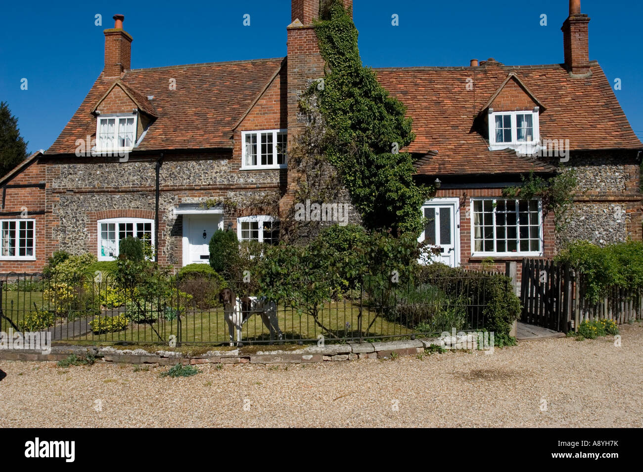 Cottages - Hambleden Village - Thames Valley - Buckinghamshire - Stock Image
