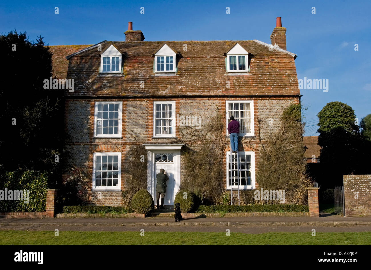 Georgian Cottage - Thame - Oxfordshire - Stock Image