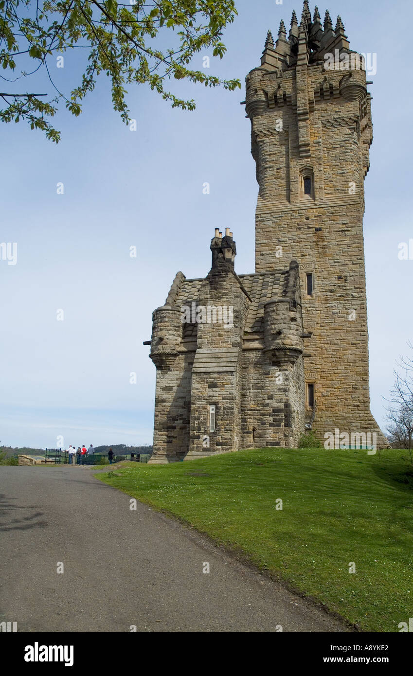 dh William Wallace monument STIRLING STIRLINGSHIRE UK Scottish historical sites abbey craig Stock Photo