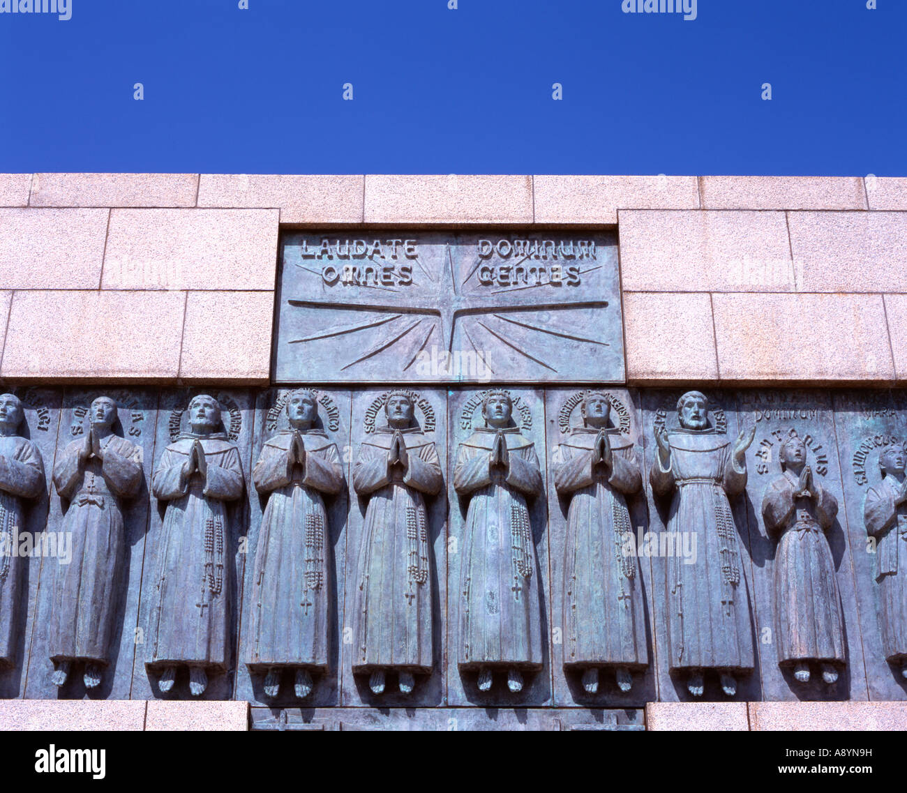 Site of the Martyrdom of the 26 Saints of Japan. Six European missionaries and 20 Japanese Christians crucified - Stock Image