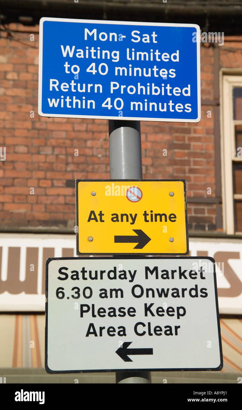 Parking Regulations Sign England - Stock Image