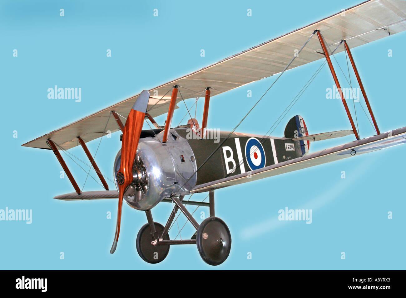 Sopwith Camel Bi-Plane Stock Photo