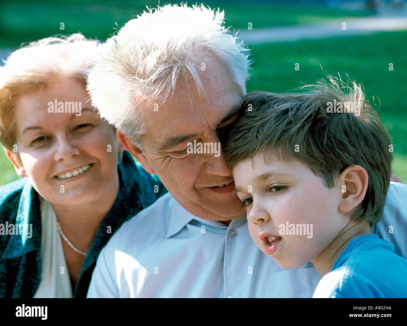grandmother and grandfather with grandson grandpa mr8355 grandma