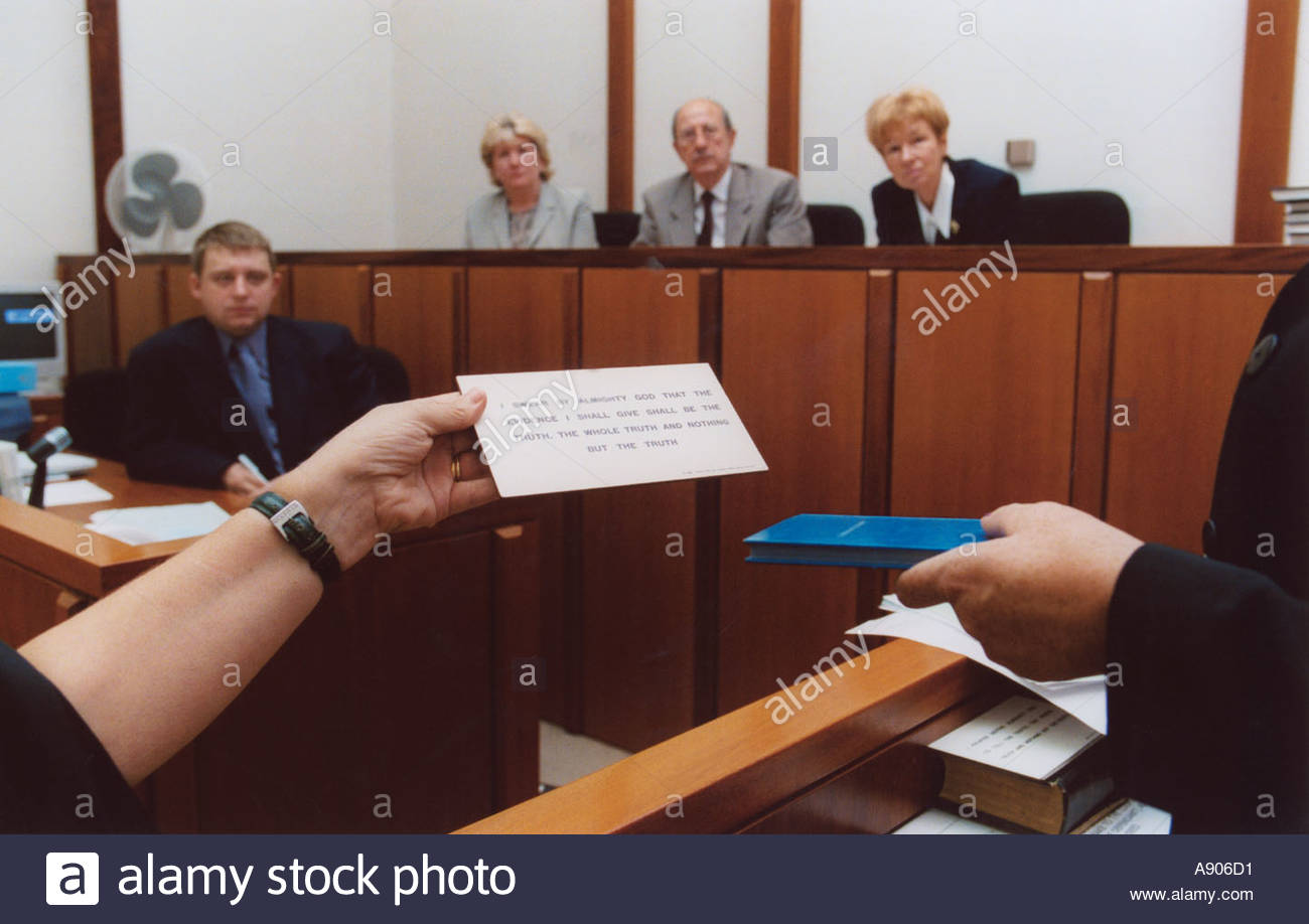 Oath for a juror or for a witness in a trial - Find Answers