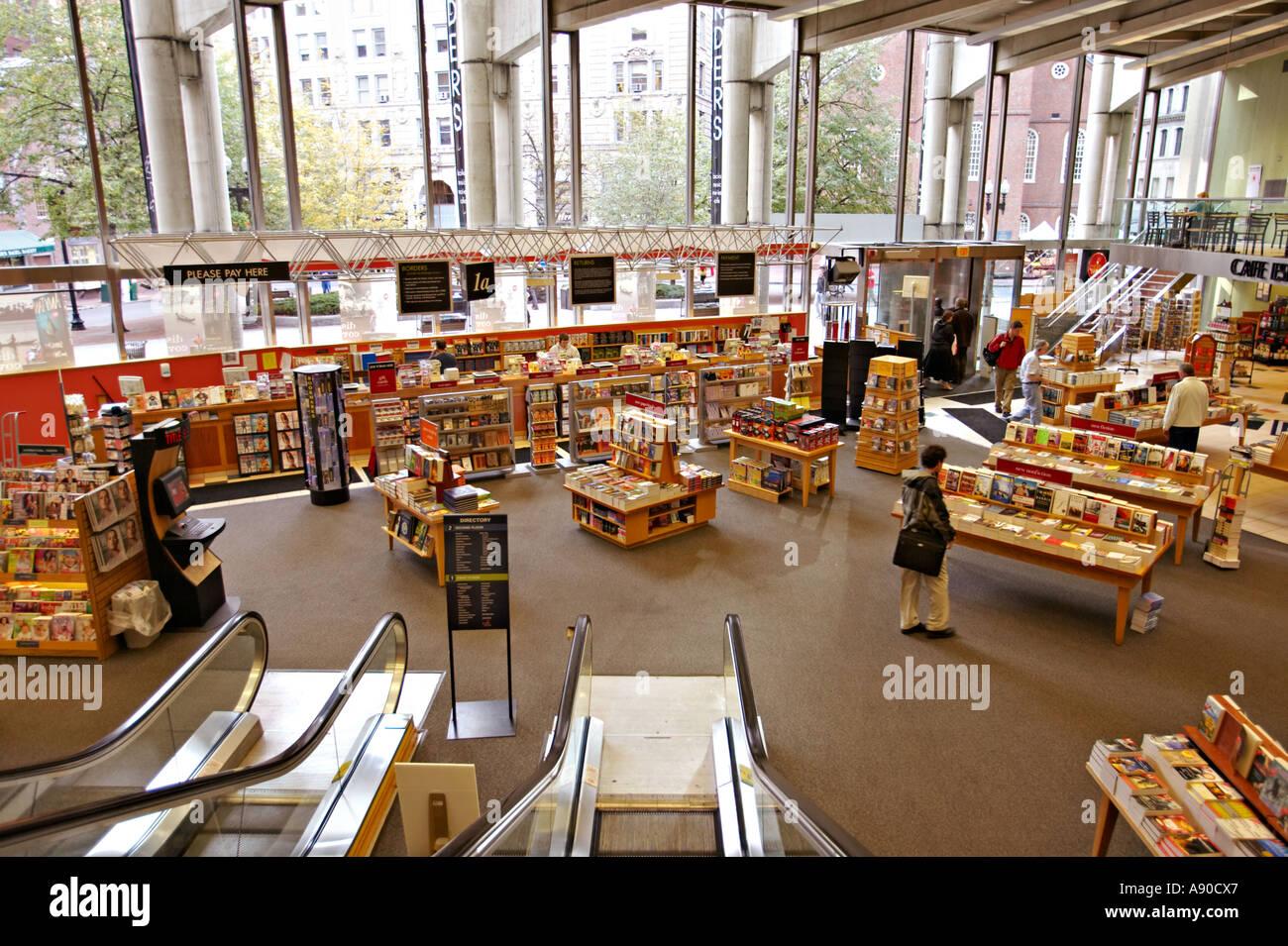 MASSACHUSETTS Boston Interior of Borders bookstore