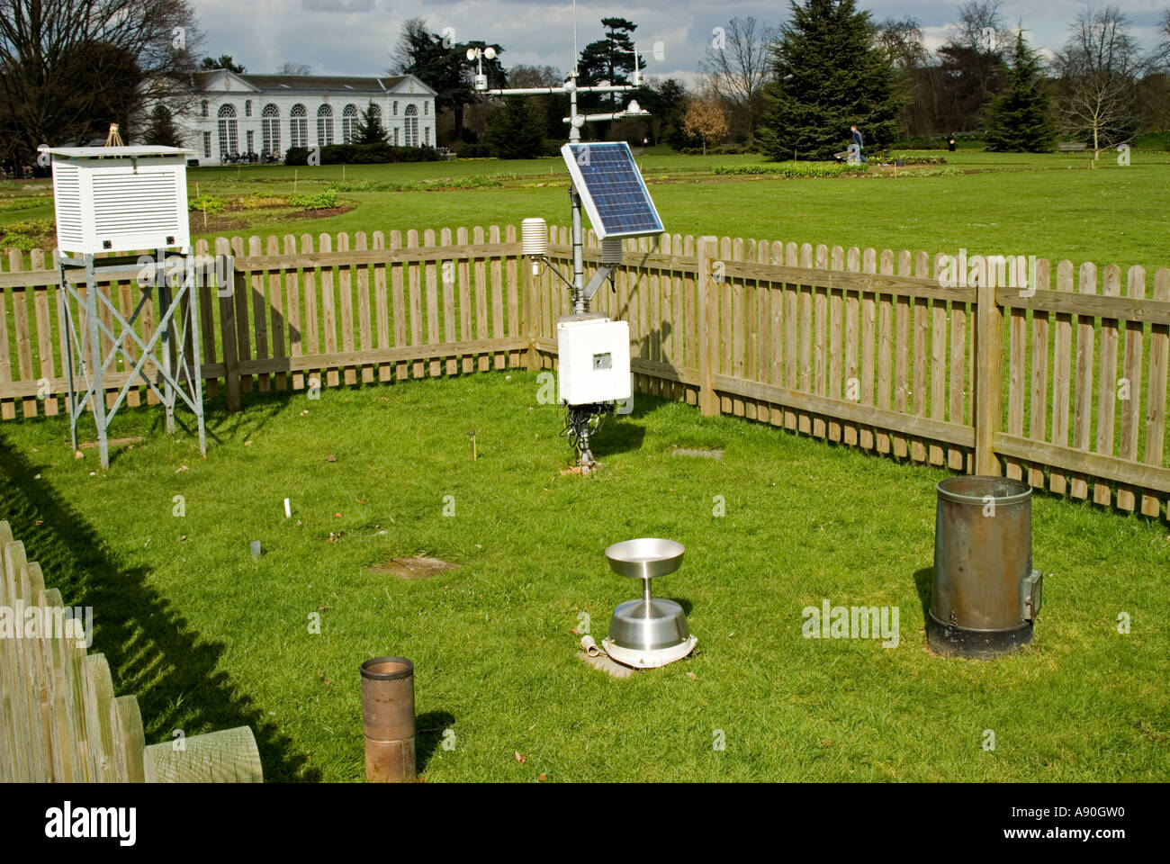 Backyard Weather Station weather station and recording stock photos & weather station and